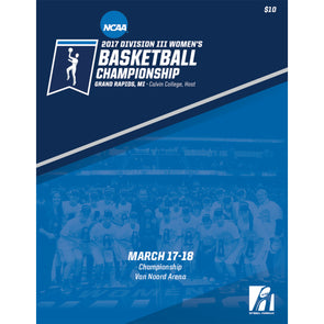 2017 NCAA DIII Women's Basketball Championship Program
