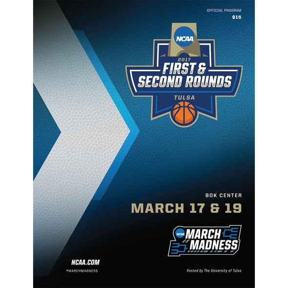 2017 NCAA Division I Men's Basketball First and Second Rounds Tulsa Program