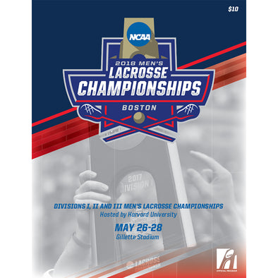2018 NCAA Divisions I, II and III Men's Lacrosse Championship Program