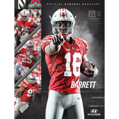 2016 Ohio State Football Official Gameday Program vs. Northwestern, October 28