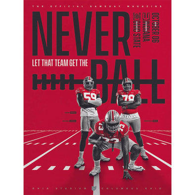 2018 Ohio State Football Official Gameday Program vs. Indiana, October 6
