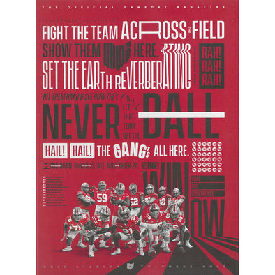2018 Ohio State Football Official Gameday Program vs. Michigan, November 24