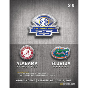 2016 SEC Football Championship Official Program
