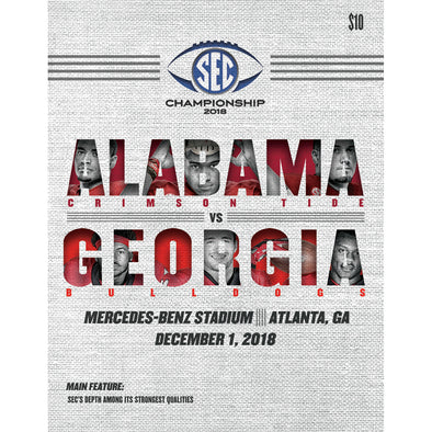 2018 SEC Football Championship Game Program