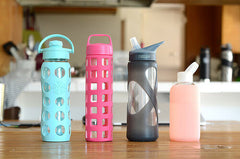 glass water bottles has their pros and cons for gym