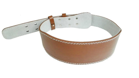 BROWN LEATHER WEIGHTLIFTING BELT