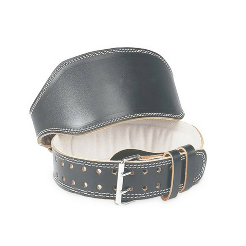 Black Leather (PU) Weightlifting Belt