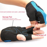 padded anti slip Hollow Finger-less Gloves
