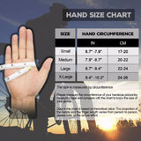 size chart Hollow Finger-less Gloves