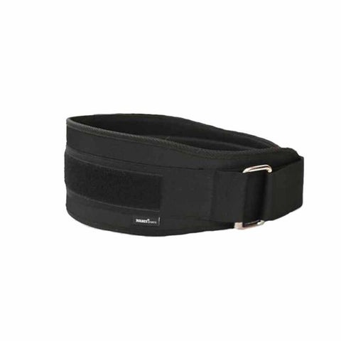 Nylon adjustable Black weightlifting belt