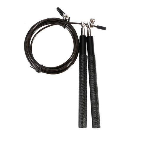 Adjustable, Black Metal Skipping Rope