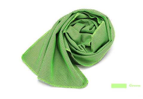 Green Women Dry cooling Gym Towel