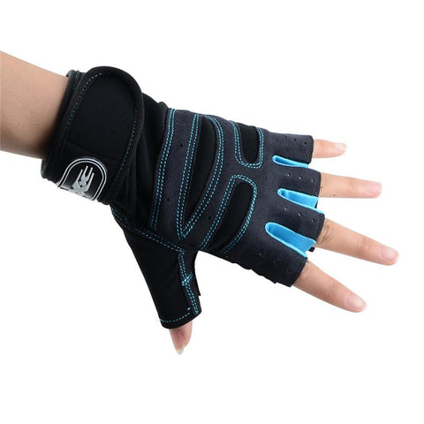 Sky blue Ladies Weightlifting Gloves