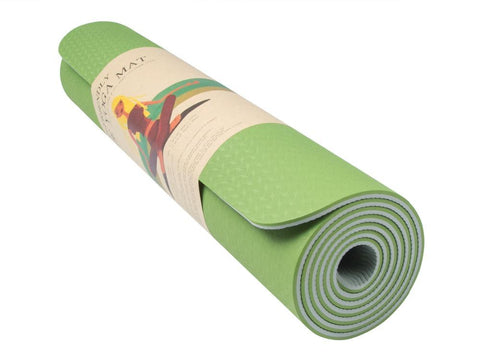 6MM Mat GREEN & BLACK EXERCISE MAT