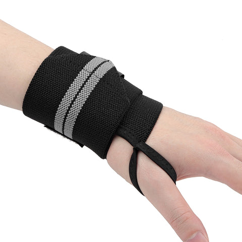 Pair of Black Wrist Wraps | GYMDAY ACCESSORIES