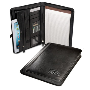 ZIP-AROUND PORTFOLIO WITH TABLET CASE AND CALCULATOR