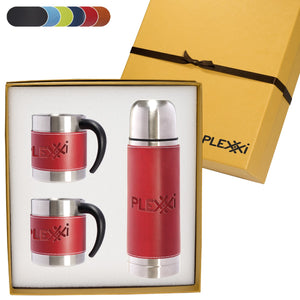THERMAL BOTTLE & COFFEE CUPS GIFT SET