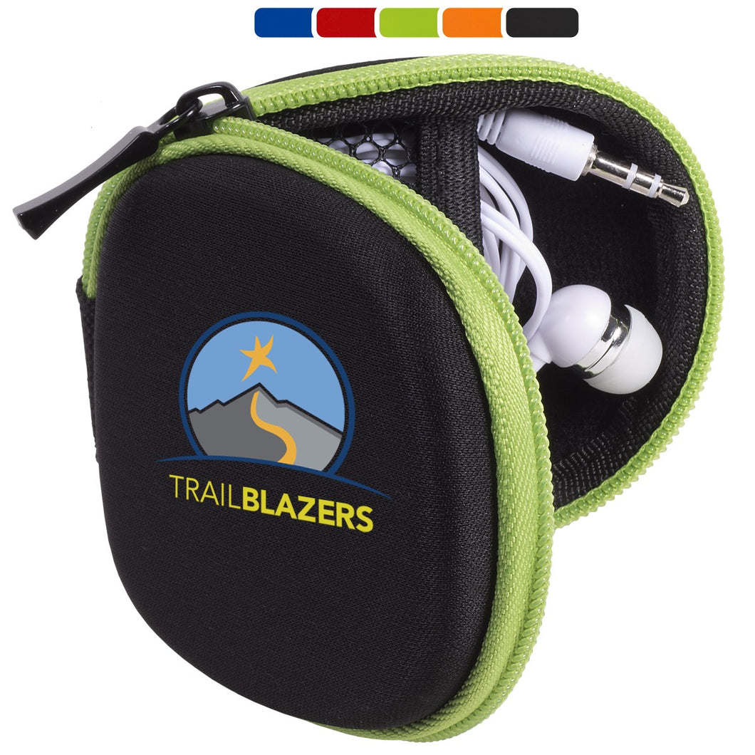 POUCH WITH EARBUDS & LENS WIPE