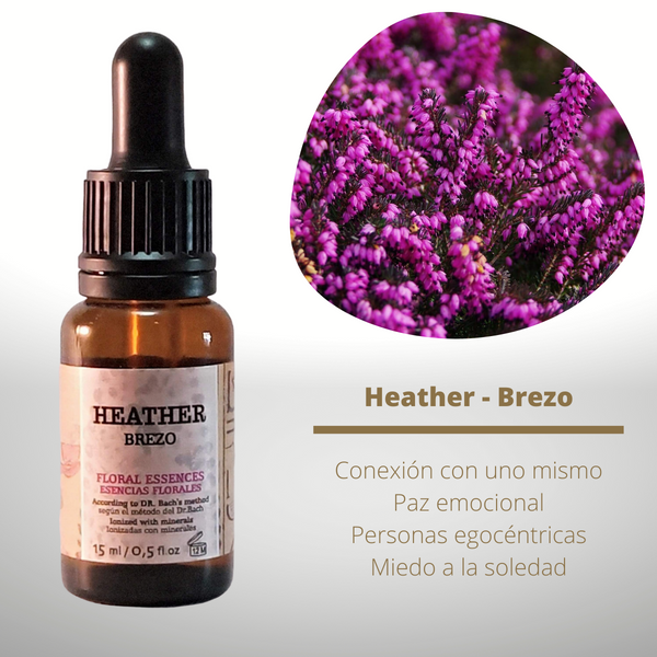 Esencia floral de Heather (Brezo)