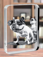 Load image into Gallery viewer, 3D Crystal Rectangle Plaque