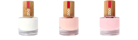This image shows the ZAO Cosmetics and ZAO Natural Organic Mineral Vegan Cruelty-Free (like Inika, Bobbi Brown and Nude By Nature) and Refillable Bamboo Makeup Australia Online Retail Store French Manicure