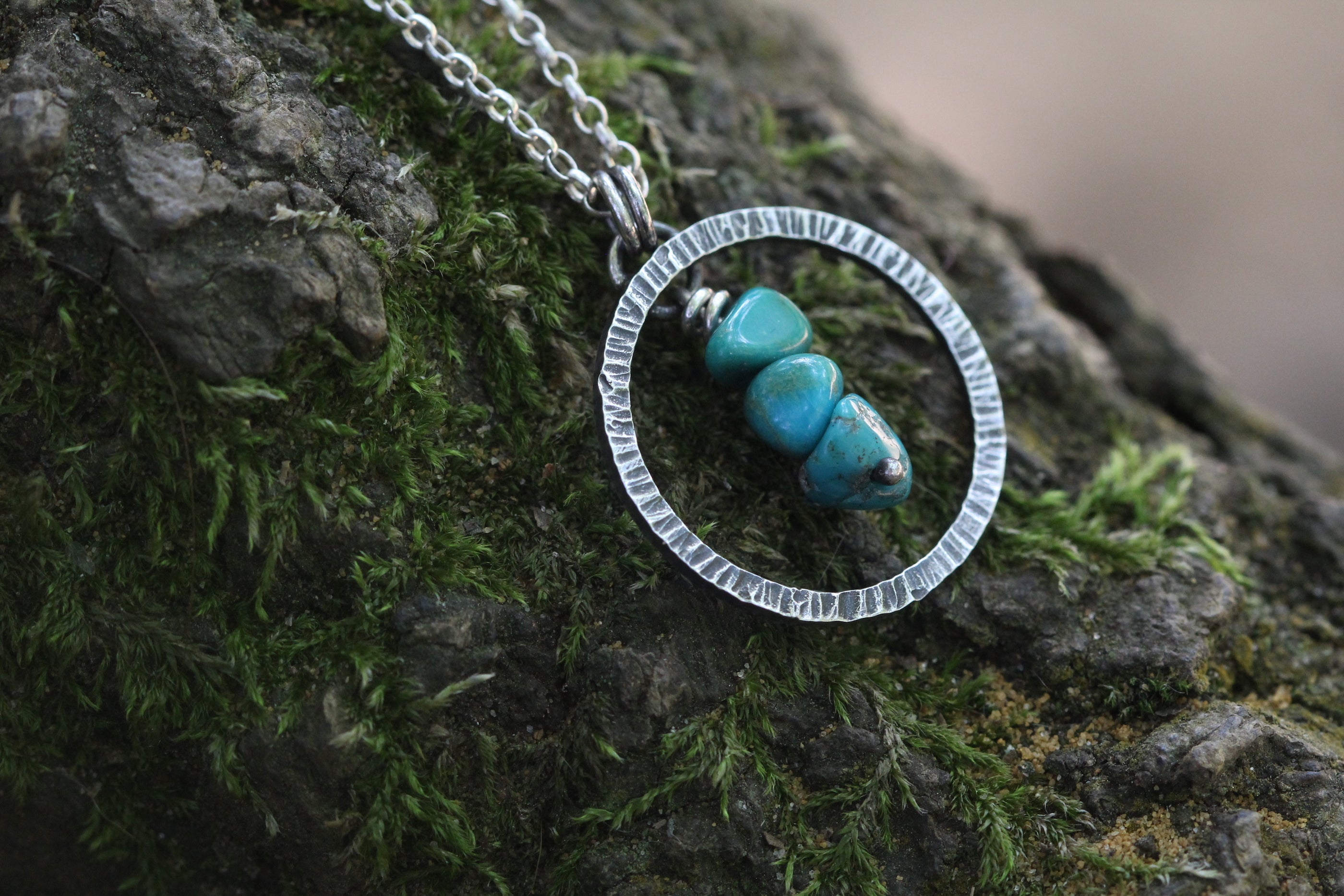 WATER CARRIER Sterling Silver Necklace with Turquoise