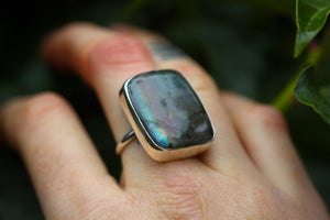 COSMIC DREAMS Labradorite & Sterling Silver Ring SIZE N / 6.5