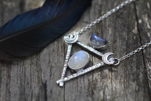 LUNAR TIDES Necklace with Rainbow Moonstone