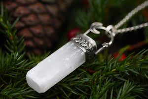 LIGHTKEEPER Selenite & Sterling Silver Necklace