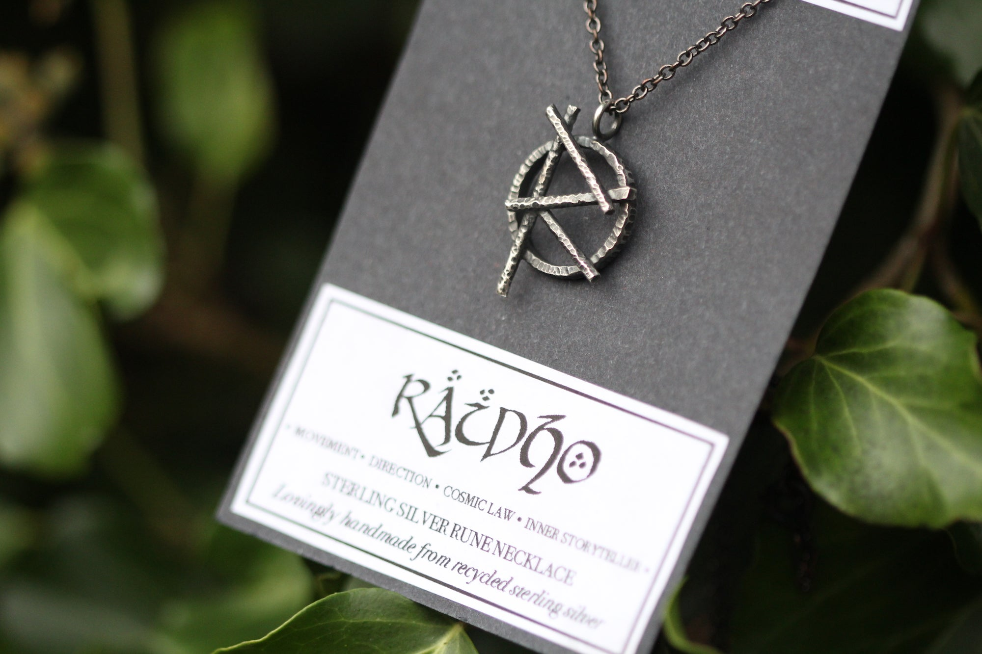 RAIDHO Sterling Silver Rune Necklace