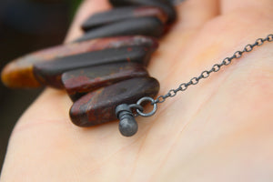 EARTHSONG Handmade Sterling Silver Necklace with Jasper