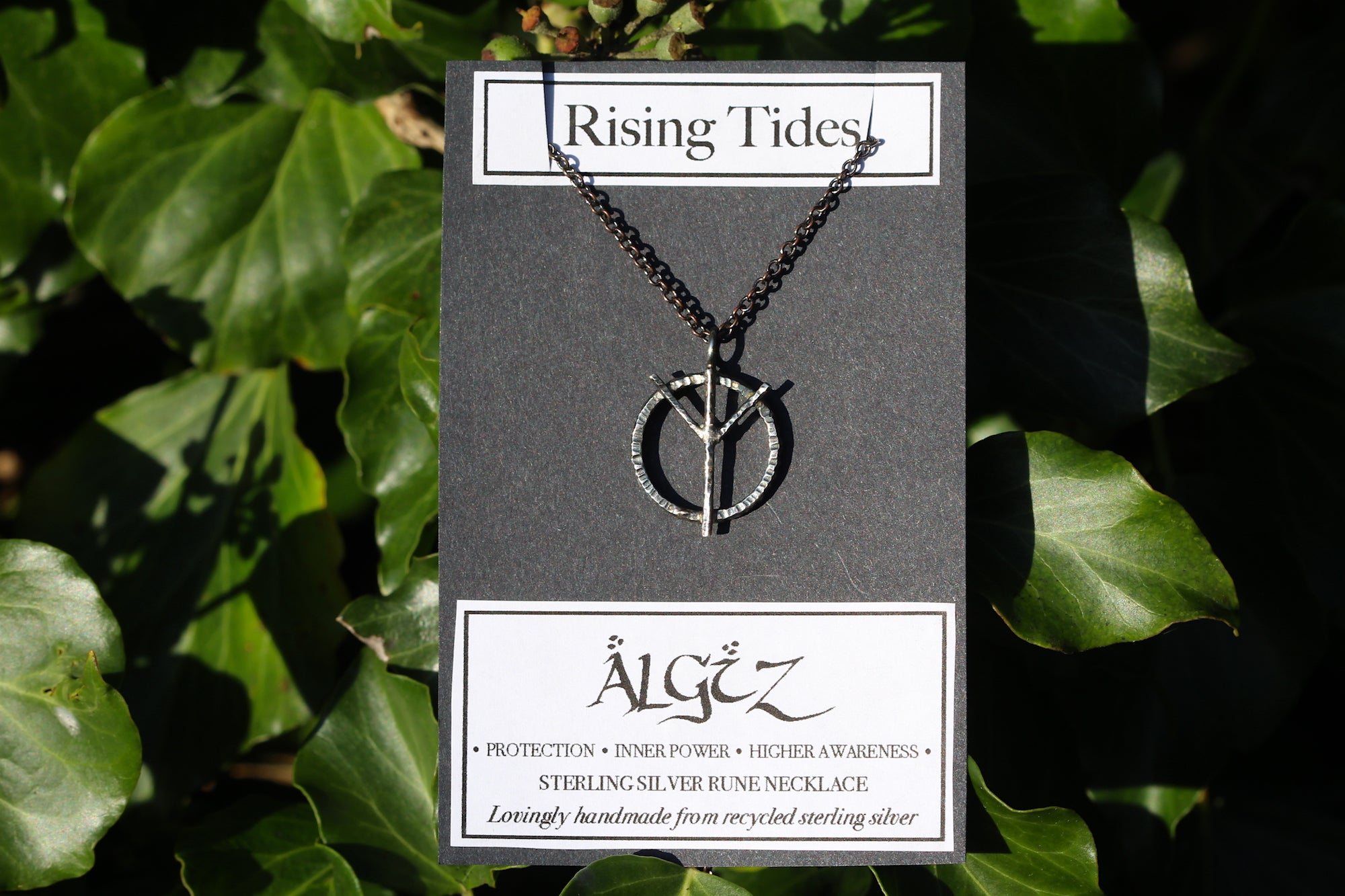 ALGIZ Sterling Silver Rune Necklace