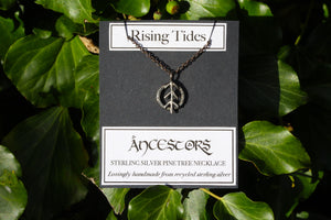 ANCESTORS Sterling Silver Runic Pine Tree Necklace