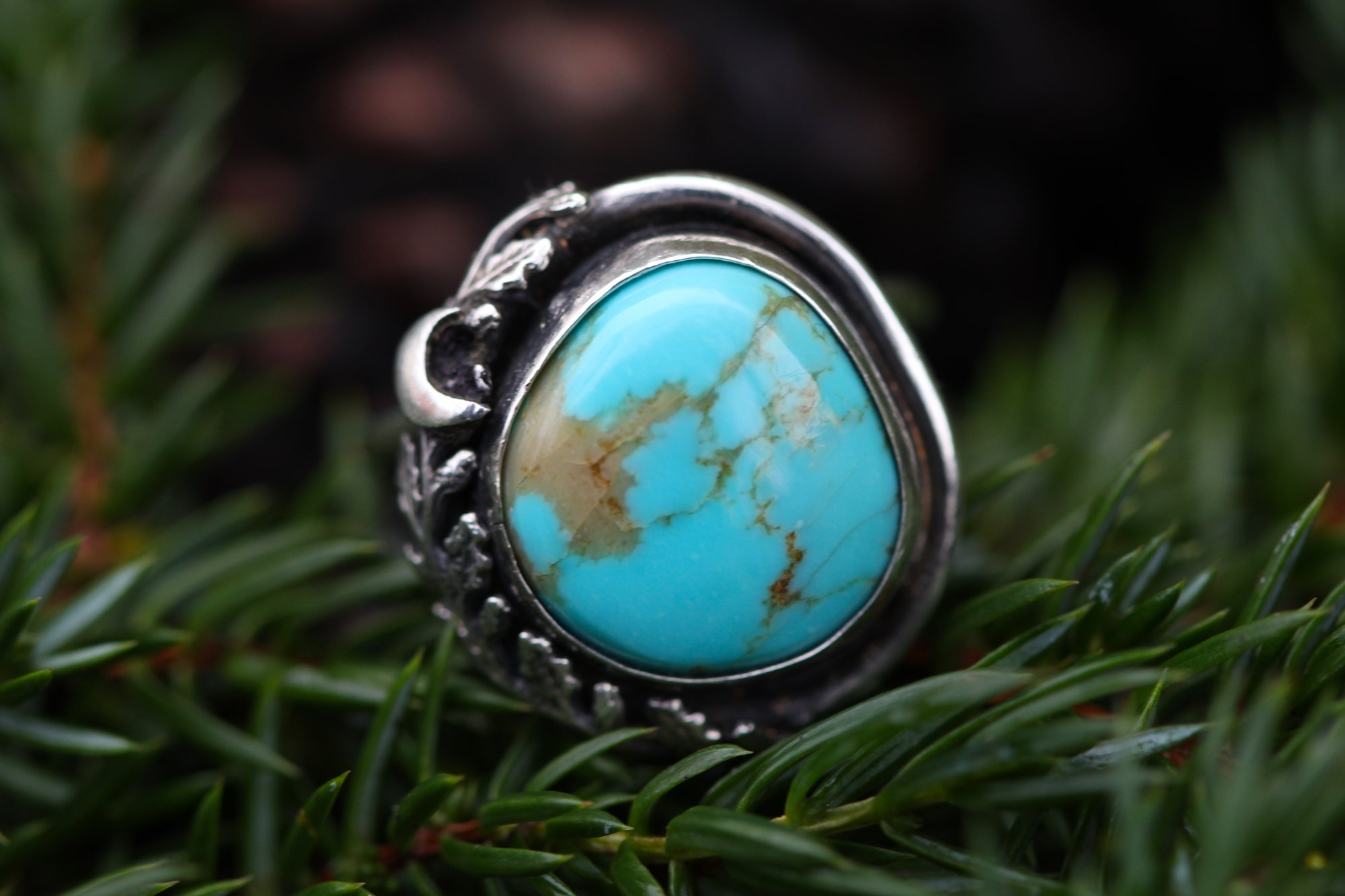 Tides of the Moon sz 7 Turquoise Ring