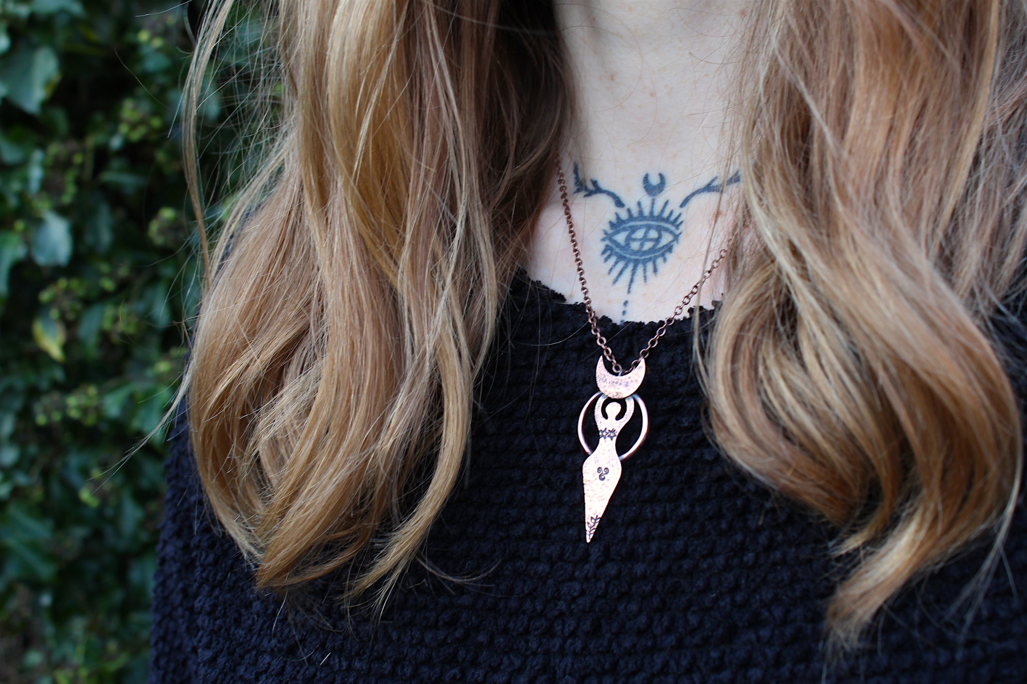 AS ABOVE, SO BELOW Handmade Copper Goddess Necklace