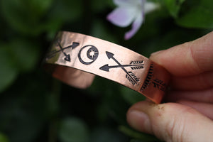 COSMIC WILD Stamped Copper Cuff (Adjustable)
