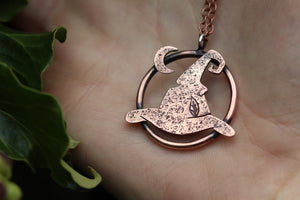 SPELLBOUND Handmade Copper Witches Hat Necklace