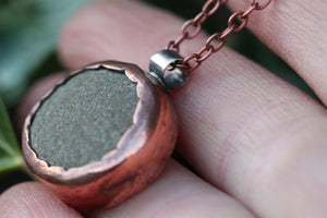 SEER Handmade Copper Reversible Necklace with Cornish Beach Pebble