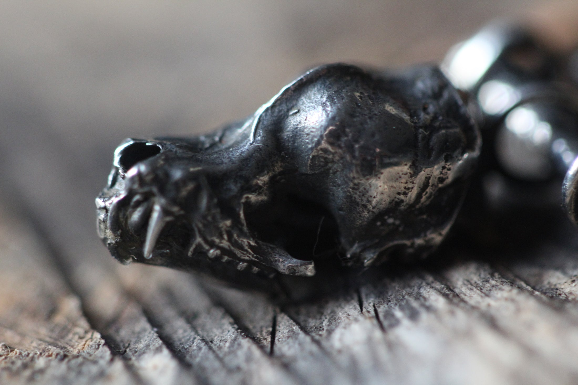 LETTING GO Bat Skull Necklace