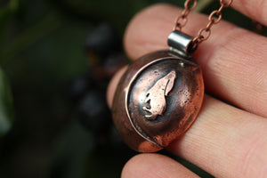 LUNAR FAMILIAR ~ HARE II ~ Handmade Copper & Sterling Silver Necklace