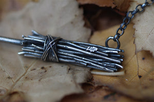 BROOMSTICK Sterling Silver Necklace