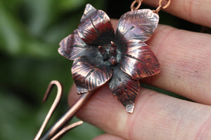 IRIS Handmade Copper Flower Necklace