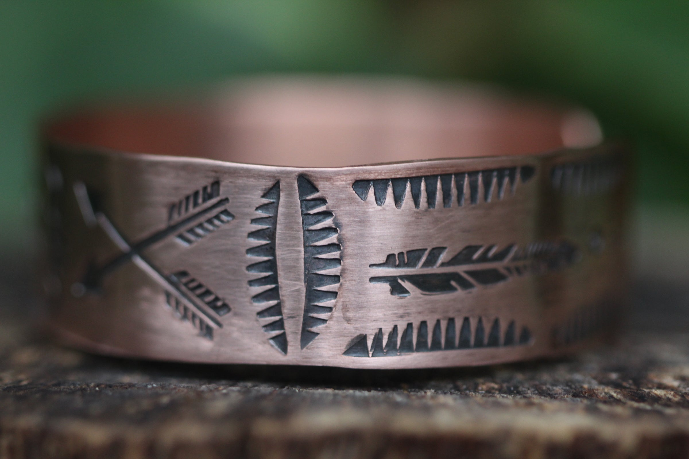 AS ABOVE SO BELOW Stamped Copper Cuff (Adjustable)