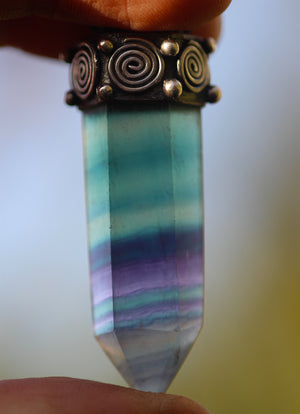 ENDLESS FLOW Sterling Silver Necklace with Fluorite