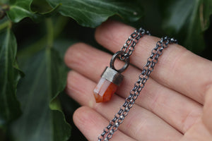 EMBERS Carnelian & Sterling Silver Necklace