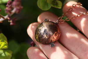 HOPE Handmade Copper Moon & Stars Necklace
