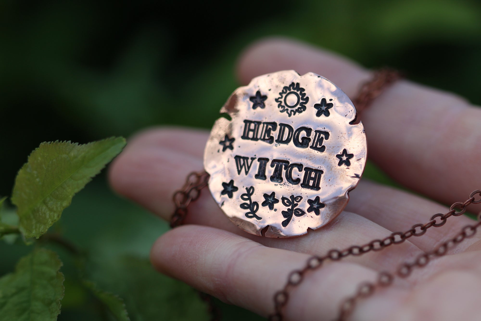 CUSTOM WITCHES HAT Handmade Copper Necklace
