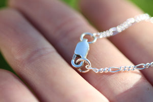 MOONDROP Sterling Silver Necklace with Rainbow Moonstone