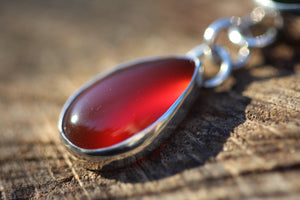 BLOOD OF THE EARTH Carnelian + Bloodstone Sterling Silver Necklace