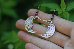 DREAMLAND Handmade Copper Moon Earrings